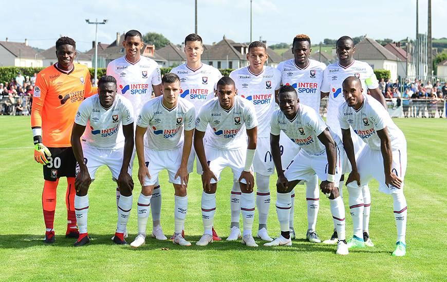 L'équipe de départ alignée par Fabien Mercadal samedi pour lors du match amical face à l'EA Guingamp avec la première titularisation de Yacine Bammou
