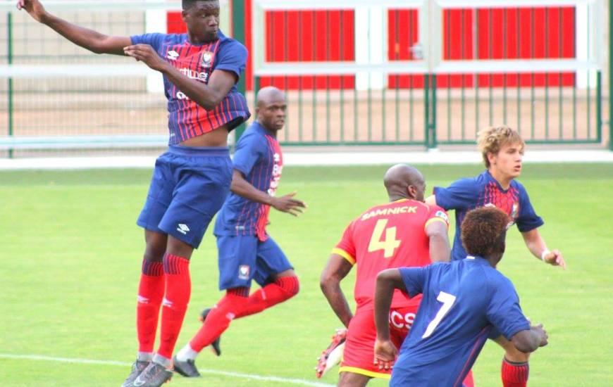 Brice Tutu a inscrit le premier but de la rencontre, l'attaquant de l'équipe réserve est aussi entré en jeu 30 minutes le lendemain avec l'équipe professionnelle face à l'EA Guingamp