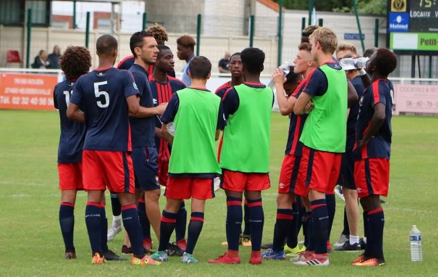 Matthieu Ballon entre déception et agacement après la contre performance des jeunes caennais sur la pelouse d'Amiens
