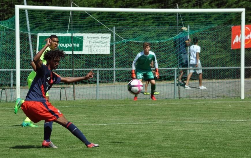 Capitaine des U19 Nationaux cette saison, Pierrick Mouniama a inscrit le cinquième but de la rencontre face à l'US Quevilly