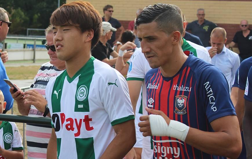 Fayçal Fajr à disputé ses premières minutes avec le Stade Malherbe cette saison, il a été remplacé à la mi-temps par Ronny Rodelin