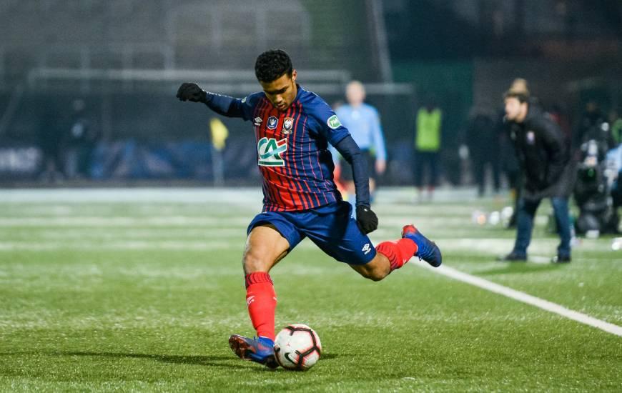 Yoël Armougom était titulaire samedi soir en position de latéral gauche face au Red Star en 32e de la Coupe de France