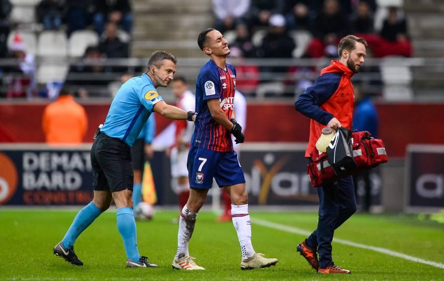 Jérôme Miguelgorry était l'arbitre lors du déplacement des caennais sur la pelouse du Stade de Reims fin décembre