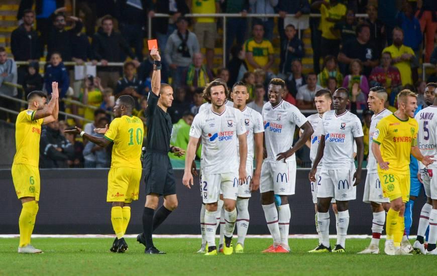 Hakim Ben El Hadj avait arbitré la rencontre face au FC Nantes et exlu Paul Baysse après un second carton jaune