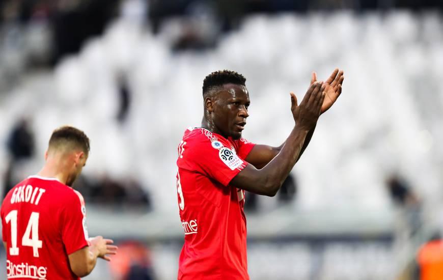 Malik Tchokounté qui aurait pu inscrire son premier but avec le Stade Malherbe le week-end dernier tentera de le faire face à Angers