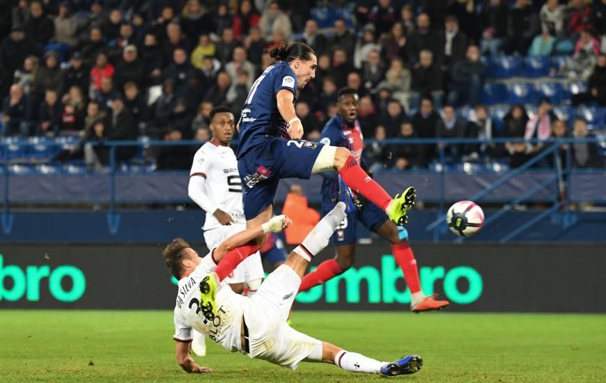 Enzo Crivelli a inscrit son troisième but de la saison samedi soir face au Stade Rennais, un peu trop tard pour pouvoir arracher le match nul