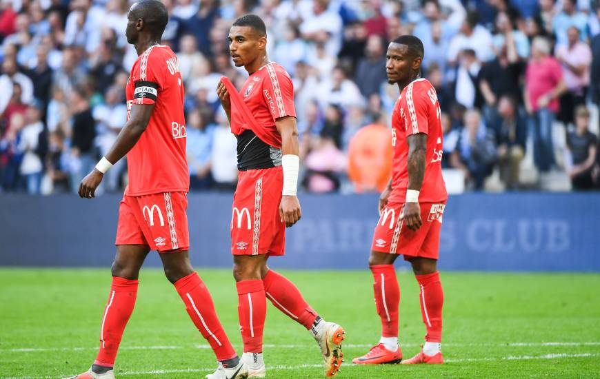 Un peu de déception pouvait se lire sur le visages des normands après le revers sur le terrain de l'Olympique de Marseille