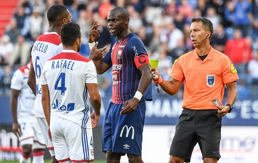 Johan Hamel avait dirigé la rencontre face à l'OL à domicile, un mauvais souvenir puisque deux caennais avaient reçu un carton rouge lors de ce match
