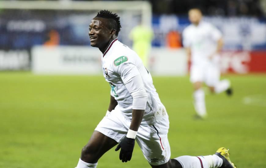 Casimir Ninga avait offert la qualification pour les 1/4 de la Coupe de France au Stade Malherbe sur la pelouse du SC Bastia