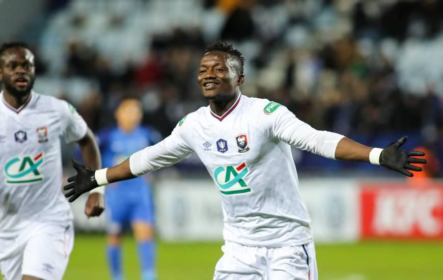 Casimir Ninga avait permis au Stade Malherbe de reprendre l'avantage lors des prolongations avant de voir le SC Bastia revenir au score