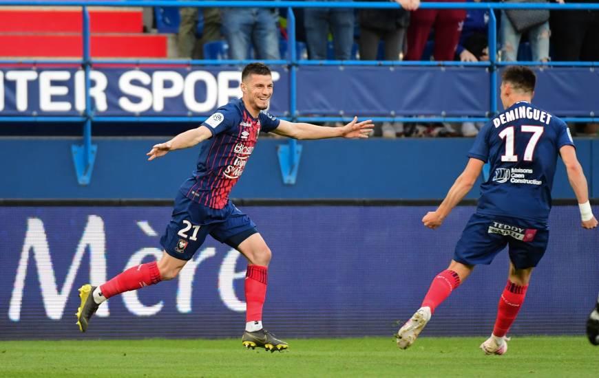 Buteur hier soir, Frédéric Guilbert à évoqué le soutien important des supporters en cette fin de saison pour le Stade Malherbe Caen
