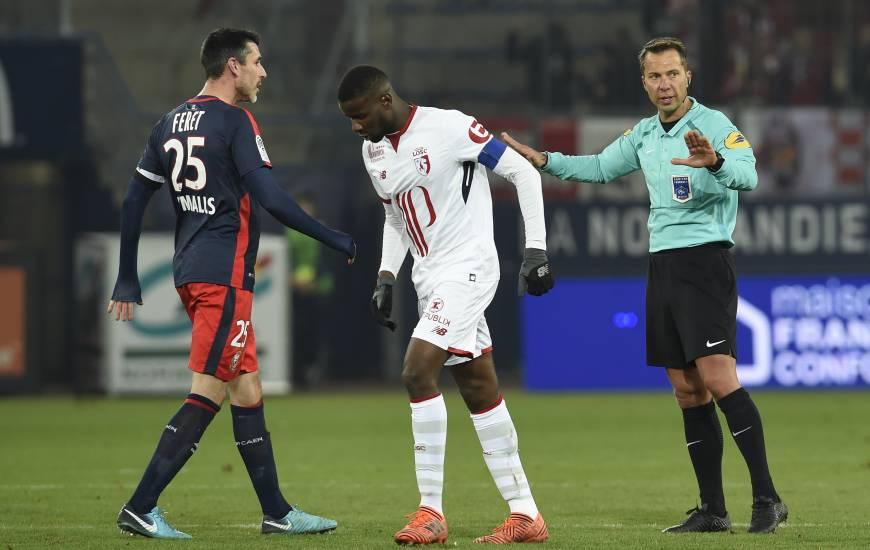 Monsieur Hamel la saison dernière lors de la réception de LOSC au Stade Michel d'Ornano (0-1)