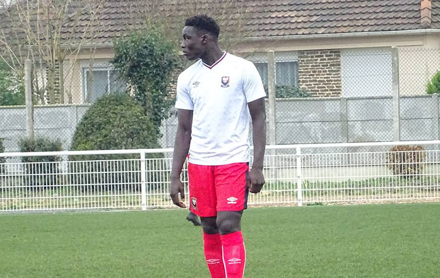 Aly Ndom s'est blessé après avoir inscrit le premier but du Stade Malherbe face à l'US Avranches dimanche matin