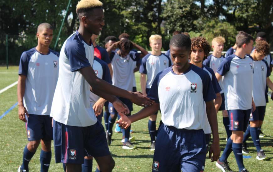 Jason Ngouabi en début de saison lors de la reprise des U17 Nationaux aux côtés de Lamine Sy
