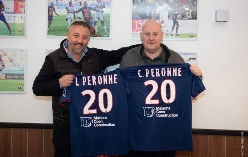 Loïc et Claude Peronne étaient présents samedi lors de la réception de l'AS Saint-Etienne pour officialiser cette prolongation