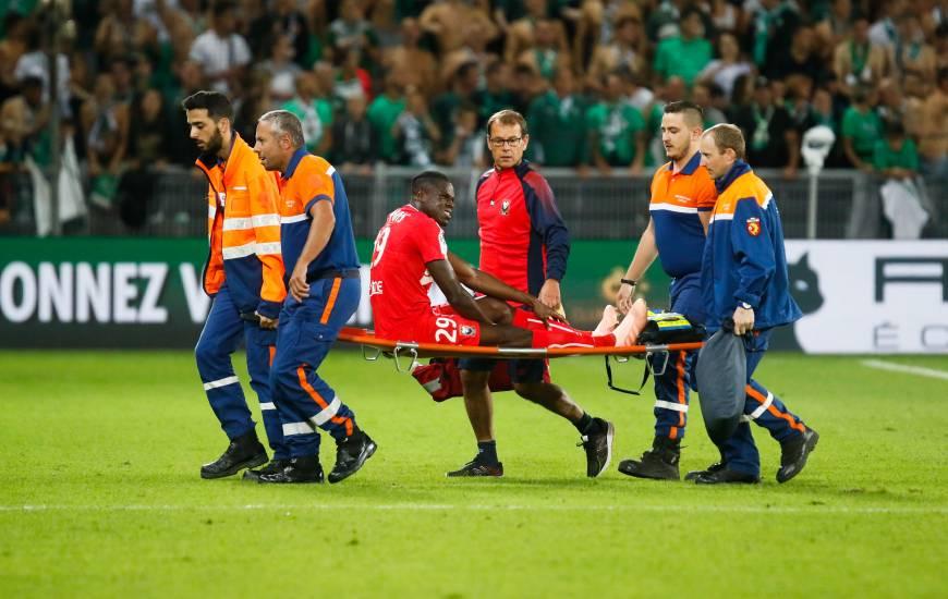 Blessé lors de la 6ème journée de L1 (ASSE-SMCaen - 22/09/18), Romain Genevois a fait son retour avec la réserve en match amical