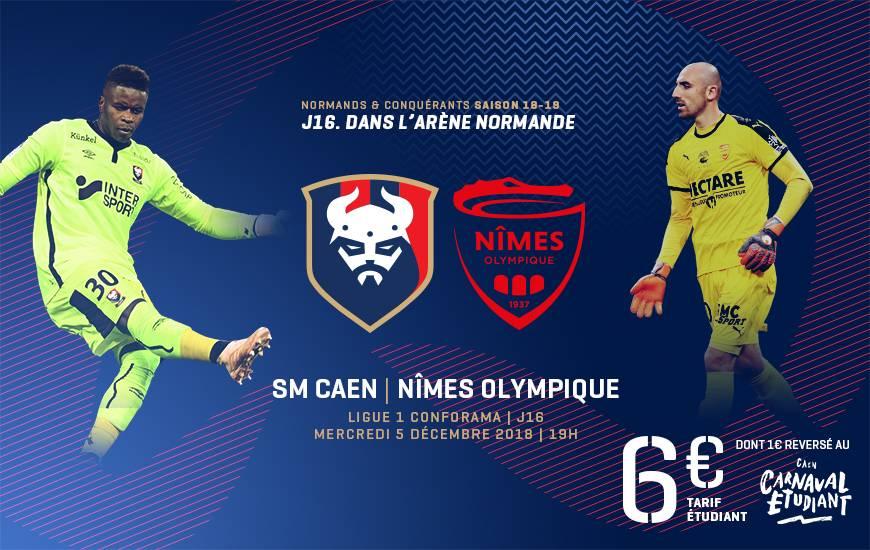 [16e journée de L1] SM Caen 1-2 Nimes O Smc_18-19_www_billeterie_template_no
