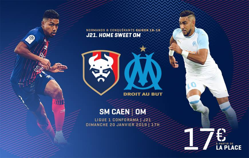 [21e journée de L1] SM Caen 0-1 O Marseille Smc_18-19_www_billeterie_template_om_1