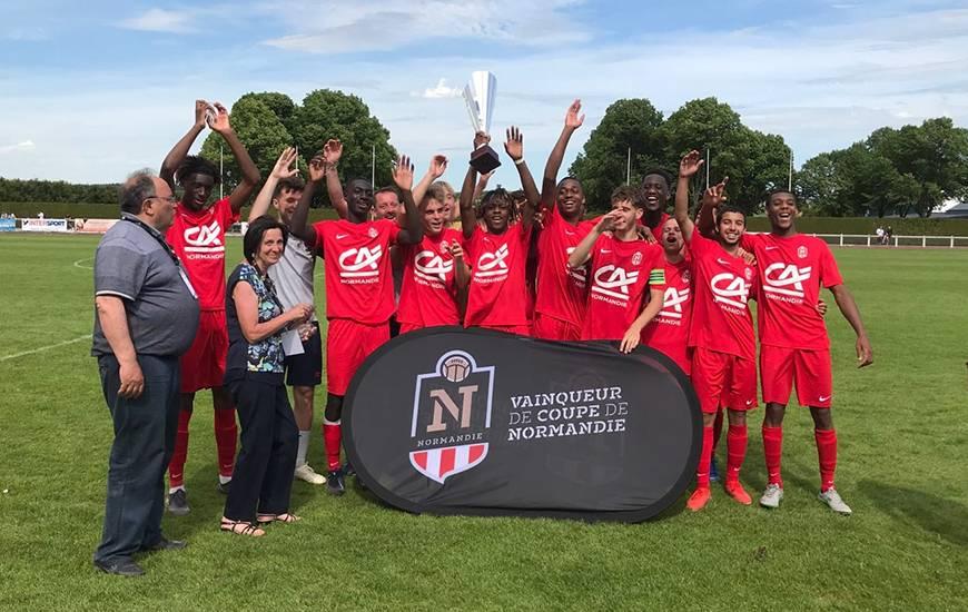 Les U18 du Stade Malherbe Caen ont remporté la Coupe de Normandie hier après-midi face aux havrais sur la pelouse d'Argentan