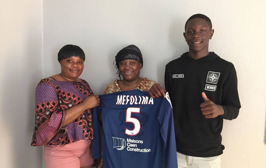 Jeune joueur de l'USON Mondeville, Franck Mefouma rejoindra le centre de formation à partir de la saison prochaine