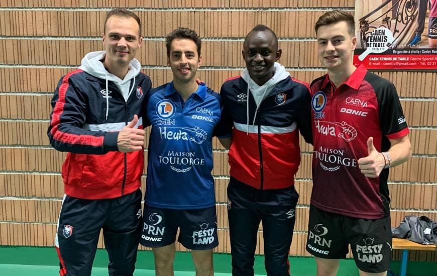 Erwin Zelazny et Adama Mbengue ont rencontré Marcos Madrid et Antoine Hachard, joueurs du Caen TTC (Pro A)