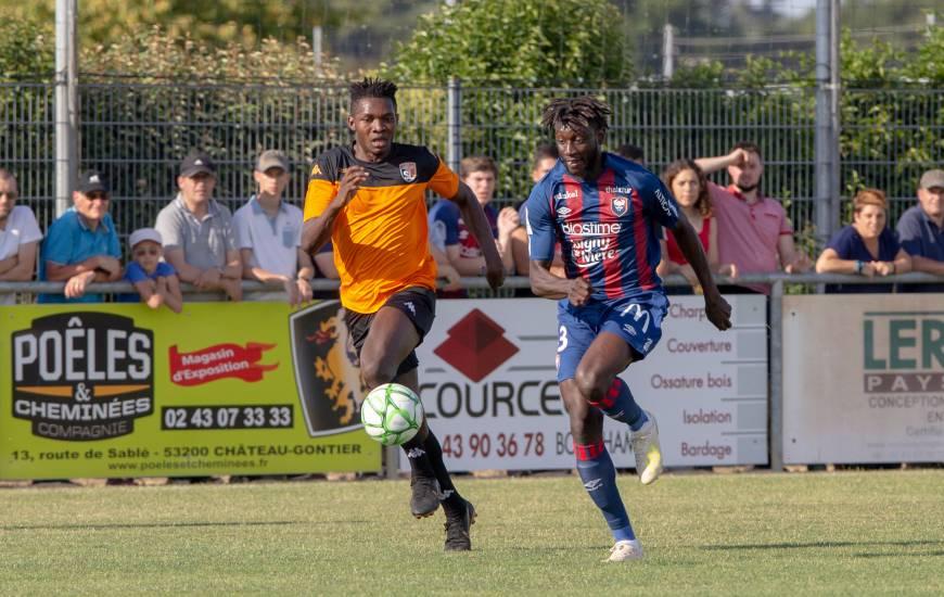 Très remuant en seconde période, Herman Moussaki a inscrit le premier but du Stade Malherbe Caen version 2019 / 2020