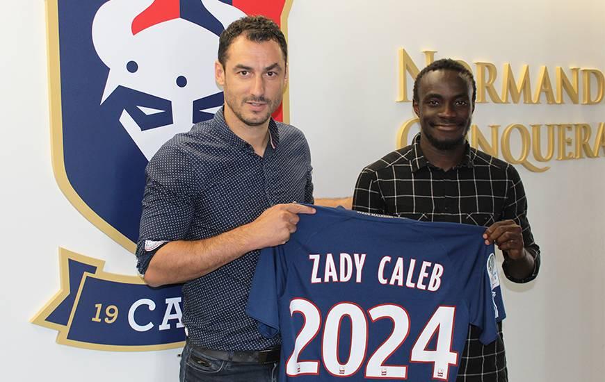 Caleb Zady Sery s'est engagé jusqu'en 2024 avec le Stade Malherbe Caen en provenance de l'AC Ajaccio