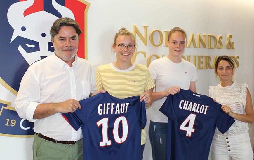 Chloé Charlot et Émilie Giffaut feront partie de l'effectif seniors féminin du Stade Malherbe Caen la saison prochaine
