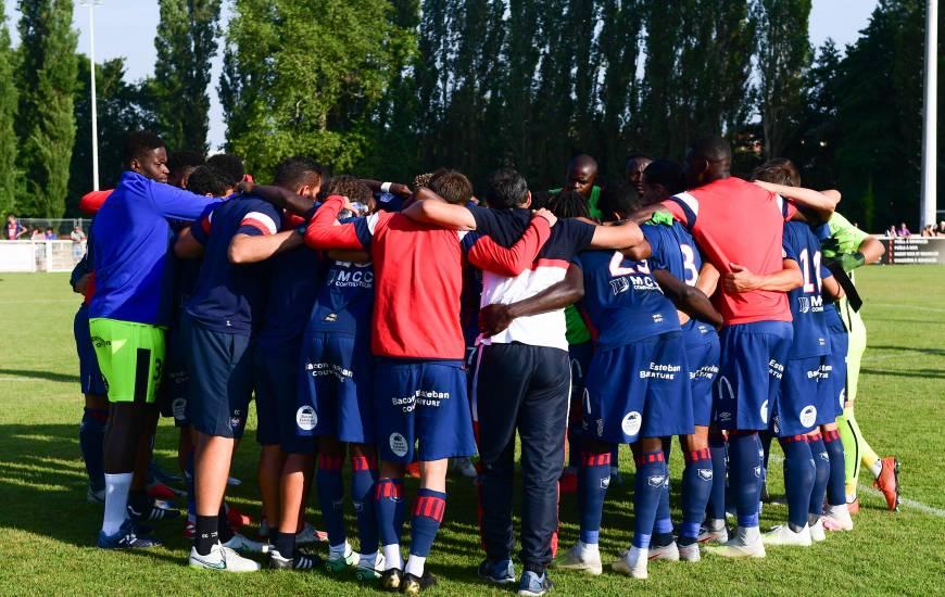 Les joueurs du Stade Malherbe Caen ont pu se réunir quelques secondes tous ensemble pour échanger après cette victoire