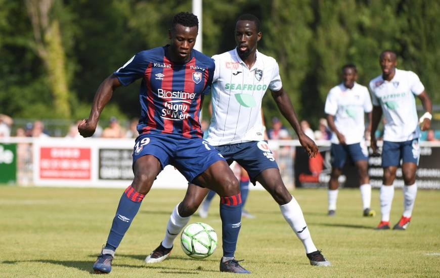 Malik Tchokounté et les caennais avaient réussi à battre les havrais (2-0) lors du Trophée des Normands