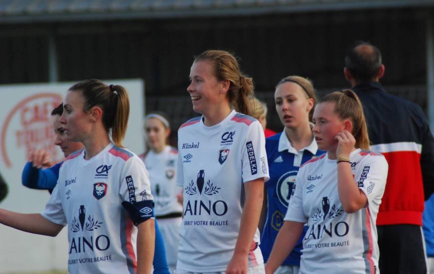 Des sourires sur les visages des féminines du Stade Malherbe Caen après ce succès face à l'US Avranches
