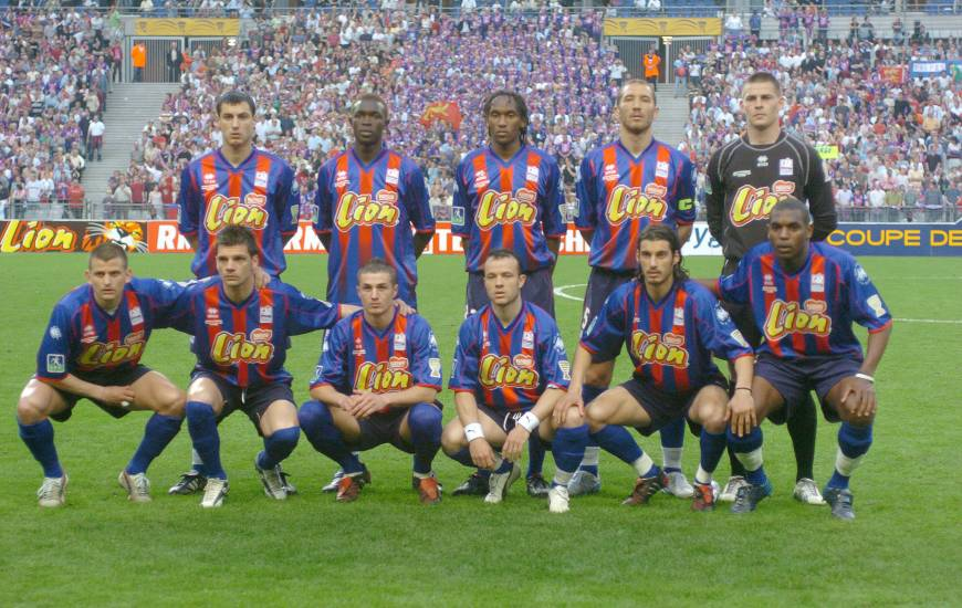 Le onze de départ du Stade Malherbe Caen lors de la finale de Coupe de la Ligue en 2005