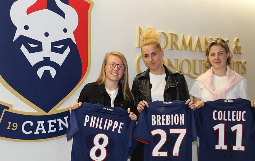 Romane Philippe, Zoé Brebion et Camille Colleuc sont les première joueuses qui composeront l'effectif 2019 / 2020 de l'équipe serniors féminine du Stade Malherbe Caen