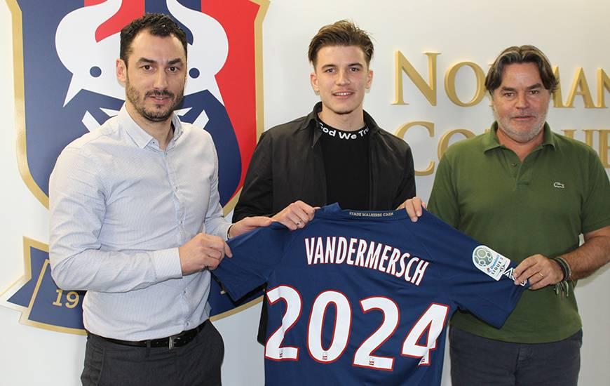 Après avoir prolongé, Hugo Vandermersch est désormais lié avec le Stade Malherbe Caen jusqu'en 2024