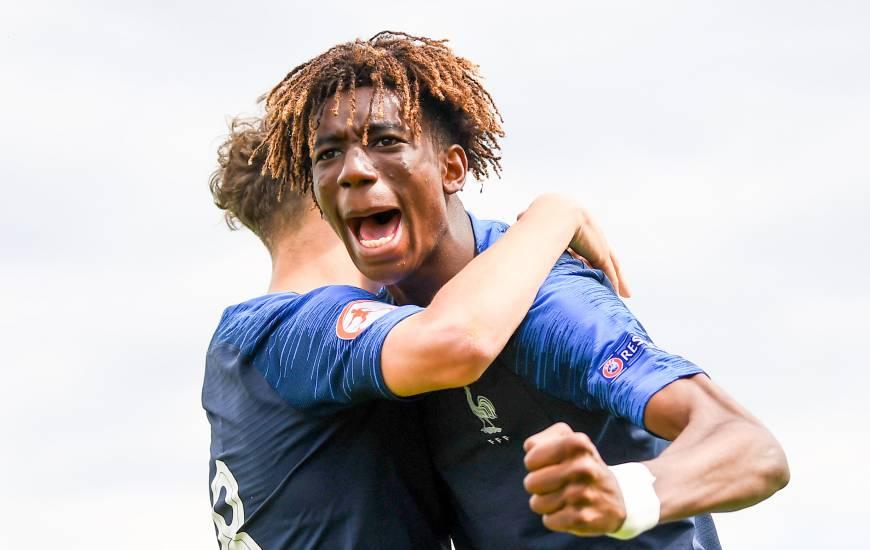 Kelian Nsona a ouvert le score pour l'Équipe de France U18 ce mercredi matin face à l'Italie