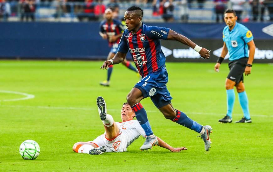 Casimir Ninga a disputé son dernier match avec le Stade Malherbe Caen lundi face au FC Lorient