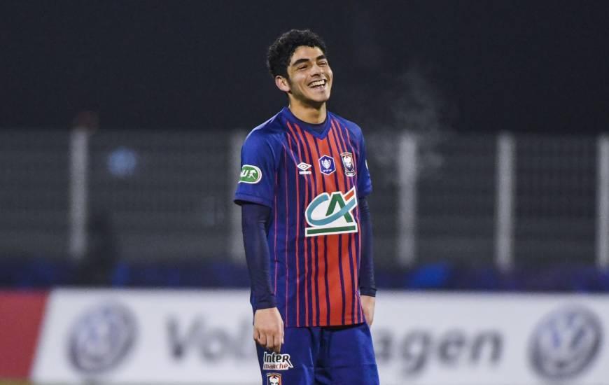 Jad Mouaddib avait effectué sa première en professionnel la saison dernière lors d'un match de Coupe de France
