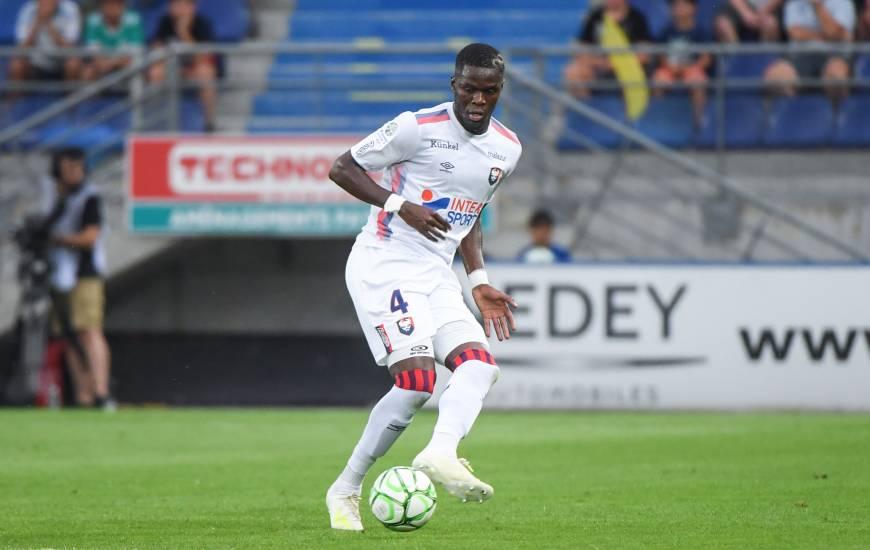 Djibril Diaw et les Caennais ont encaissé un but dans le temps additionnel pour la première fois de la saison