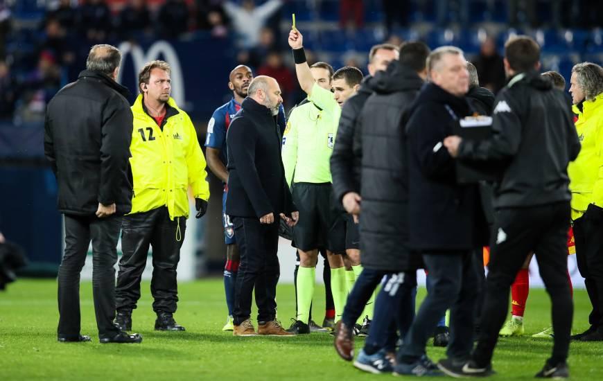Pascal Dupraz a été averti en fin de rencontre face au Mans FC le week-end dernier