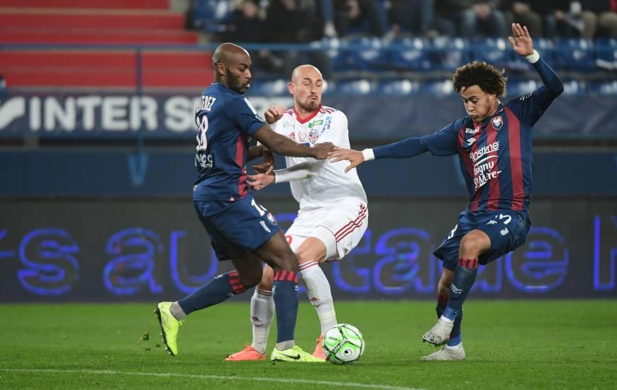 Jonathan Rivierez et les Caennais ont dû s'incliner dans les dernières secondes de cette rencontre face à l'AC Ajaccio