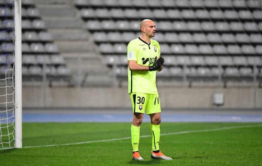Rémy Riou a dû s'incliner à deux reprises ce soir sur la pelouse du FC Lorient (J20 - L2)