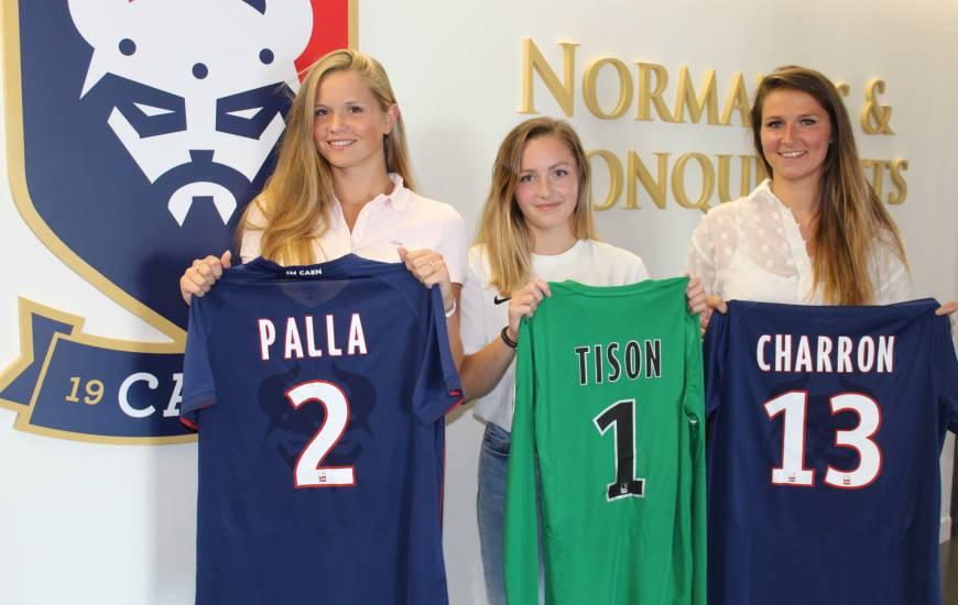 Clémence Palla, Louise Tison et Emma Charron ont repris l'entraînement il y a une semaine sous les ordres d'Anais Bounouar