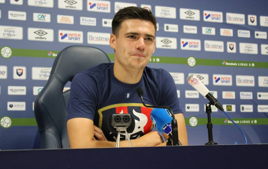Jessy Deminguet disputera son deuxième match face au Havre en professionnel après le match aller joué au stade Michel d'Ornano