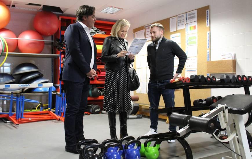 Madame Gavini-Chevet a pu visiter l'ensemble des installations du centre de formations aux côtés de Fabrice Clément