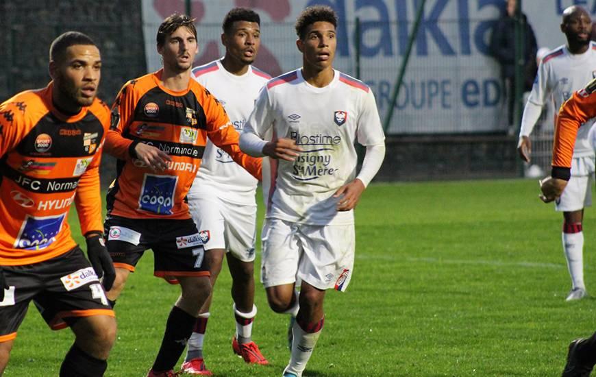 Nicholas Gioacchini et Santy Ngom ont inscrit chacun un but face au Grand-Quevilly FC samedi en fin de journée