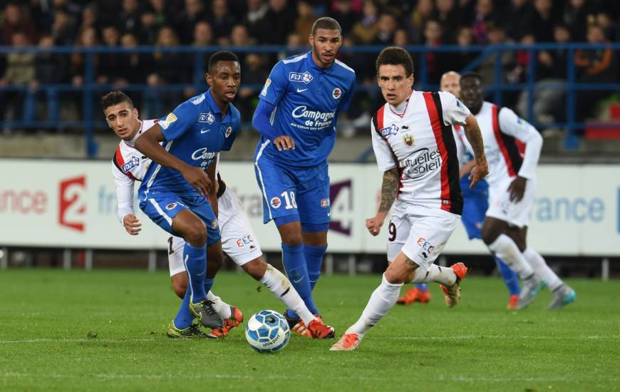 Le dernier match du Stade Malherbe Caen en Coupe de la Ligue BKT en 2015 face à l'OGC Nice
