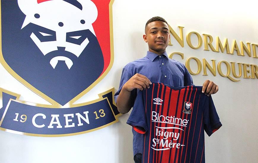 Le jeune Lyvans Yeponde s'est engagé en fin de saison dernière avec le Stade Malherbe Caen pour y intégrer le centre de formation