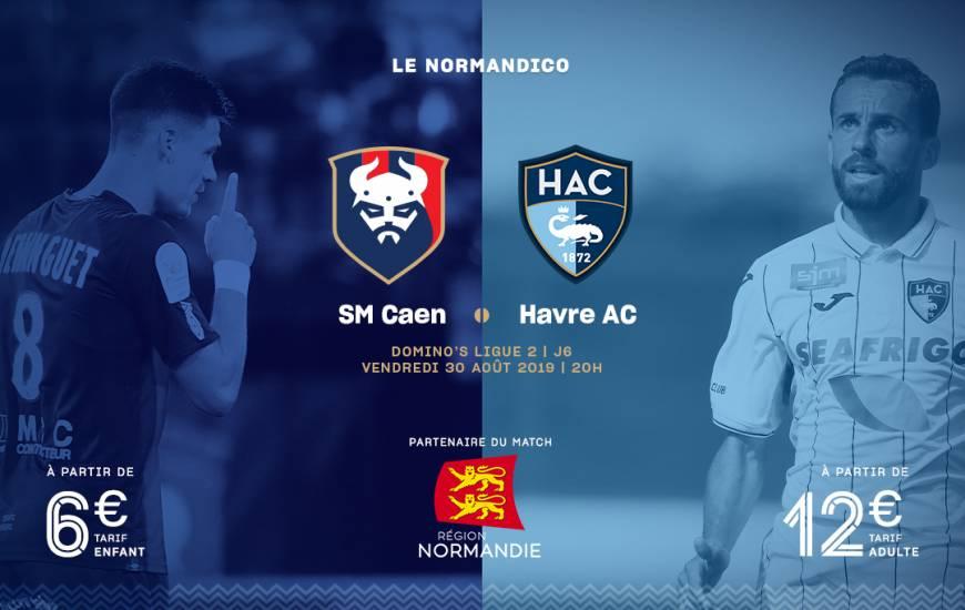 [6e journée de L1] SM Caen 0-3 Le Havre AC Smc_19-20_billeterie_visuel_hac_1