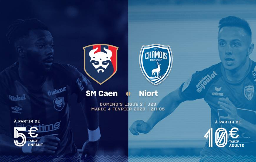 [23e journée de L2] SM Caen 4-3 Chamois Niortais FC Smc_19-20_merch_niortfc_870x550