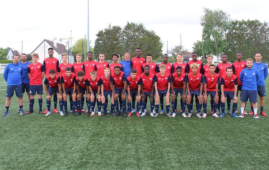 28 joueurs composent actuellement l'effectif U17 du Stade Malherbe Caen encadré par Matthieu Ballon et son staff